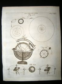 Astronomy C1790 Antique Print. Sphere, etc 81